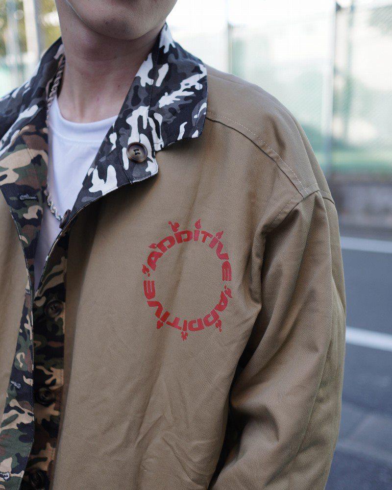 リバーシブルOBACHAN'Sパッチワークレオパードカモフラ長袖シャツジャケットの画像6